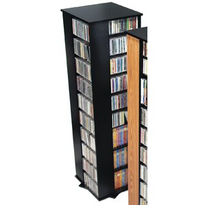 Deluxe Spinning 4-Sided Multimedia Revolving Tower by Prepac