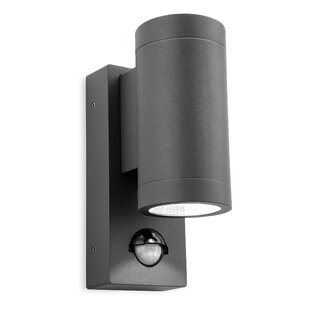 Pir security lights youll love wayfair shelby 2 light outdoor sconce with motion sensor aloadofball