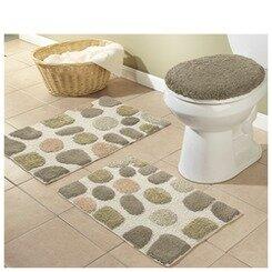 better trends river rocks 3 piece bath rugs set & reviews
