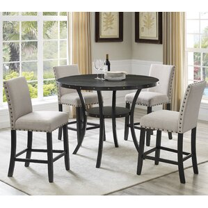 dining room sets. Amy Espresso Wood 5 Piece Dining Set Blue Kitchen  Room Sets You ll Love Wayfair