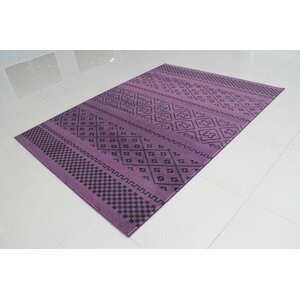 Purple/Black Area Rug