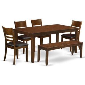 Lockmoor 6 Piece Dining Set by Red Barrel..