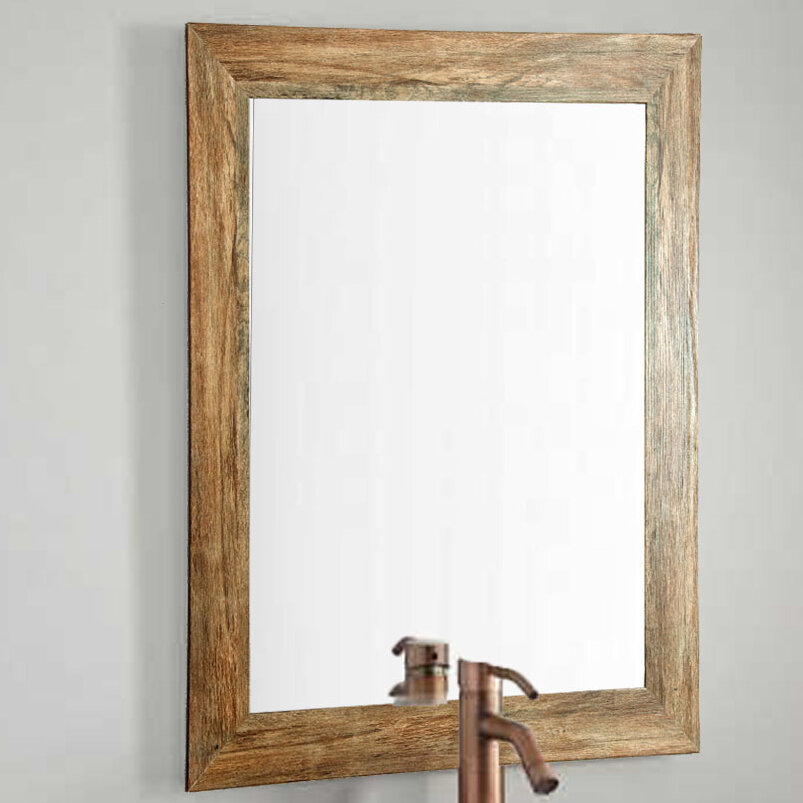 BrandtWorksLLC Barnwood Wall Mirror & Reviews | Wayfair