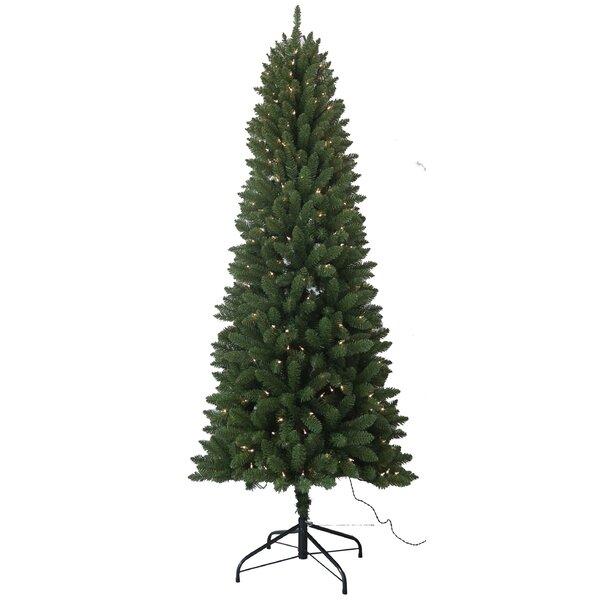 Next Slim Christmas Tree: Santa's Workshop 7.5' PVC Slim Artificial Christmas Tree