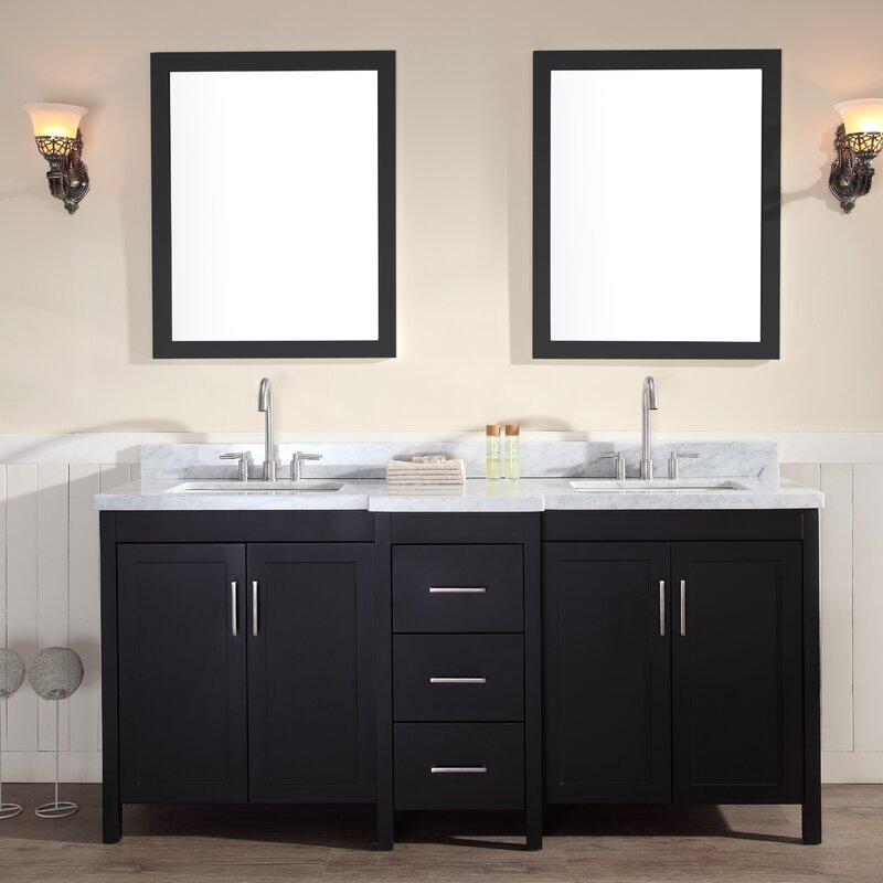 Sink And Vanity Set. Hollandale 73  Double Sink Vanity Set with Mirrors Ariel Bath