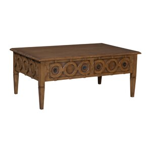 Surrey Wood Coffee Table by Rosecliff Heights