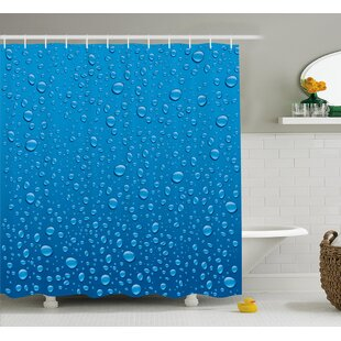 Water Drops Decor Shower Curtain