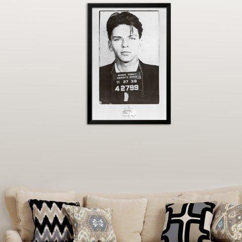 Wildon Home ® \'Frank Sinatra-Mugshot\' Framed Photographic Print ...