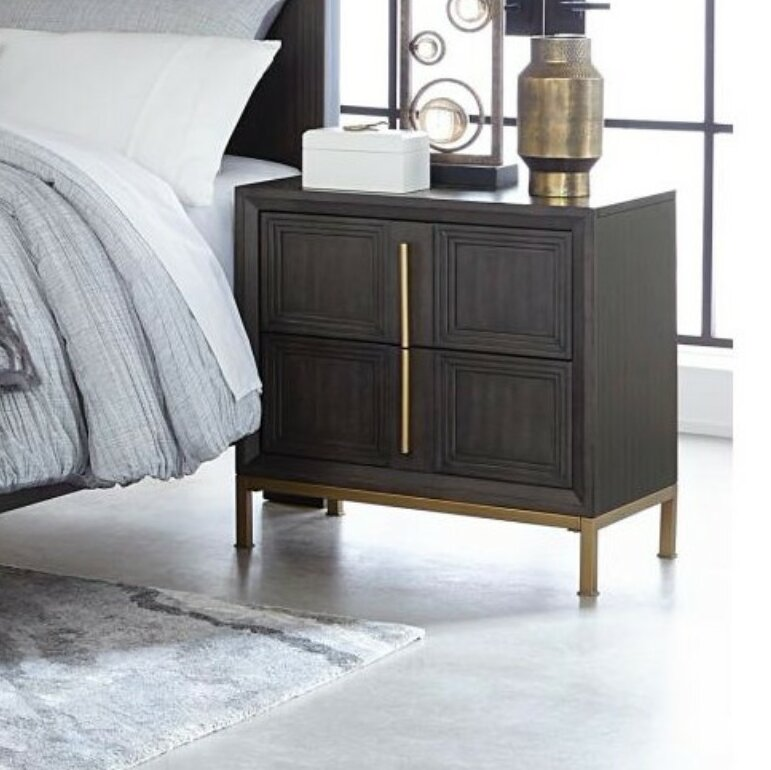 c46afb476dd4 Dili Wooden 2 Drawer Nightstand