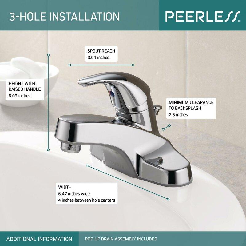 Peerless Faucets Centerset Bathroom Faucet with & Reviews   Wayfair