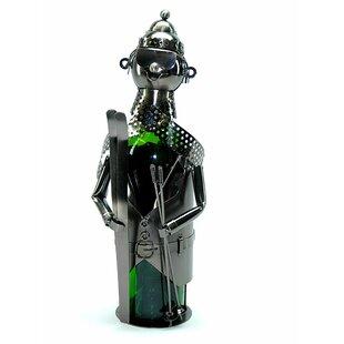 Skier Metal 1 Bottle Tabletop Wine Rack