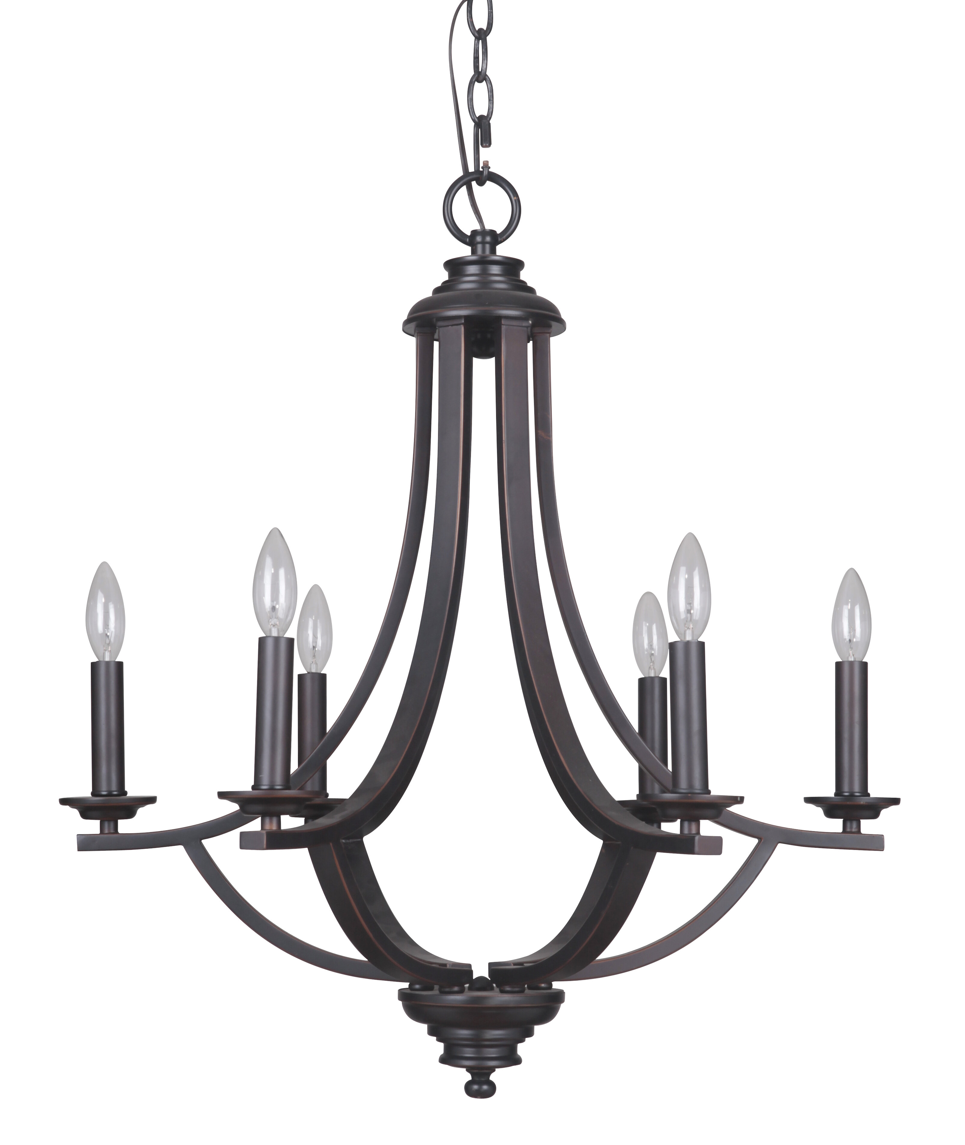 MarianaHome Dapper 6 Light Candle Style Chandelier & Reviews