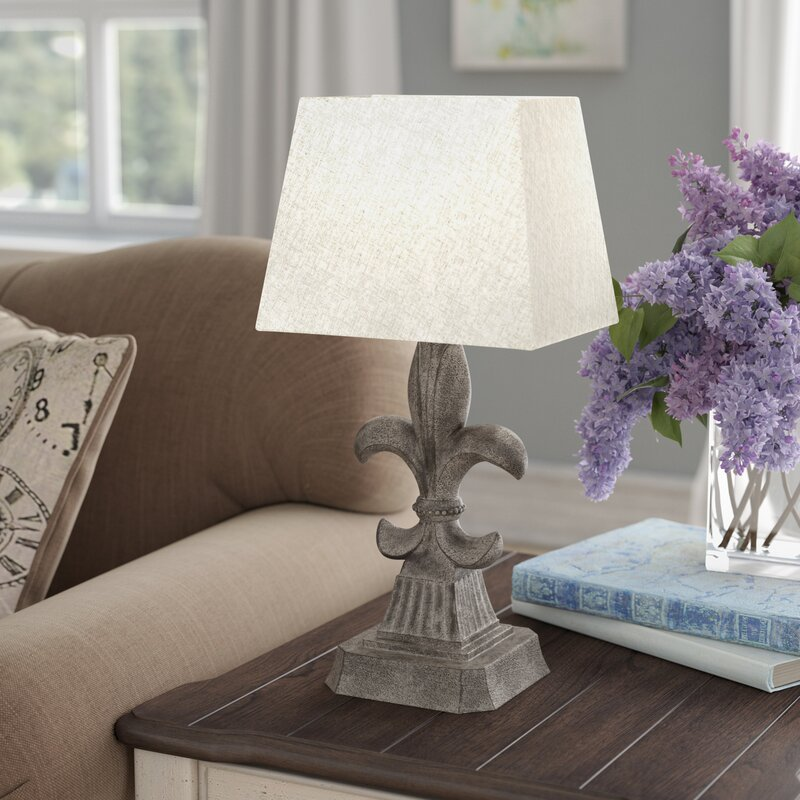 Ophelia co frankfort fleur de lis accent 19 table lamp frankfort fleur de lis accent 19 table lamp mozeypictures Gallery