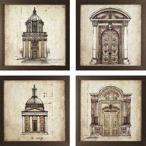 Architectural Wall Art 4+ piece architectural wall art you'll love | wayfair
