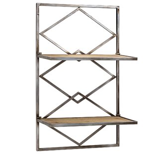 Hannum Wood And Metal Hanging Wall Shelf