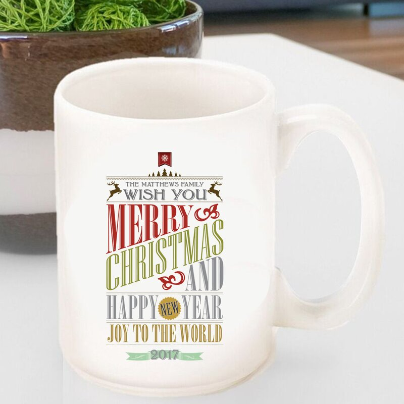 Mug Words Personalized Christmas Coffee Vintage Holiday RqSc345jLA