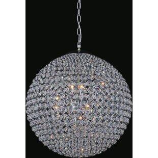 Globe crystal chandelier wayfair globe 12 light crystal chandelier aloadofball Gallery