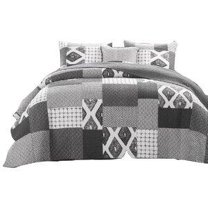 Da Da Bedding Cotton/Polyester Reversible Quilt/Coverlet Set