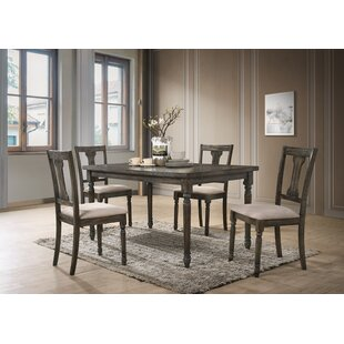 Neal 5 Piece Solid Wood Dining Set
