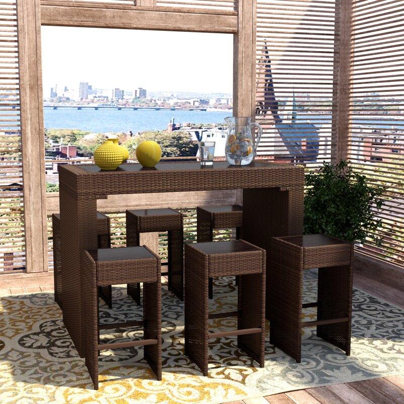 Devault 7 Piece Bar Height Dining Set