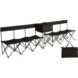 Half Back Portable 6-Seater Team Sports Sideline Folding Chair with Attached Cooler u0026 Slat Fabric Back  sc 1 st  Wayfair & Sideline Chairs | Wayfair