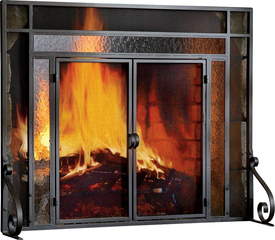 2 Panel Steel Fireplace ScreenFireplace Screens You ll Love   Wayfair. Wooden Fireplace Screens. Home Design Ideas