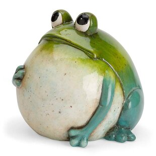 Big Belly Ceramic Frog Statue