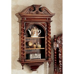 Charles II Wall-Mounted Curio Cabinet by Design Toscano