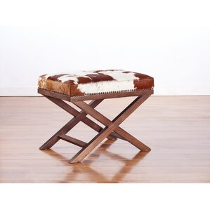 Moo X Genuine Cowhide Ottoman by TOV Furniture