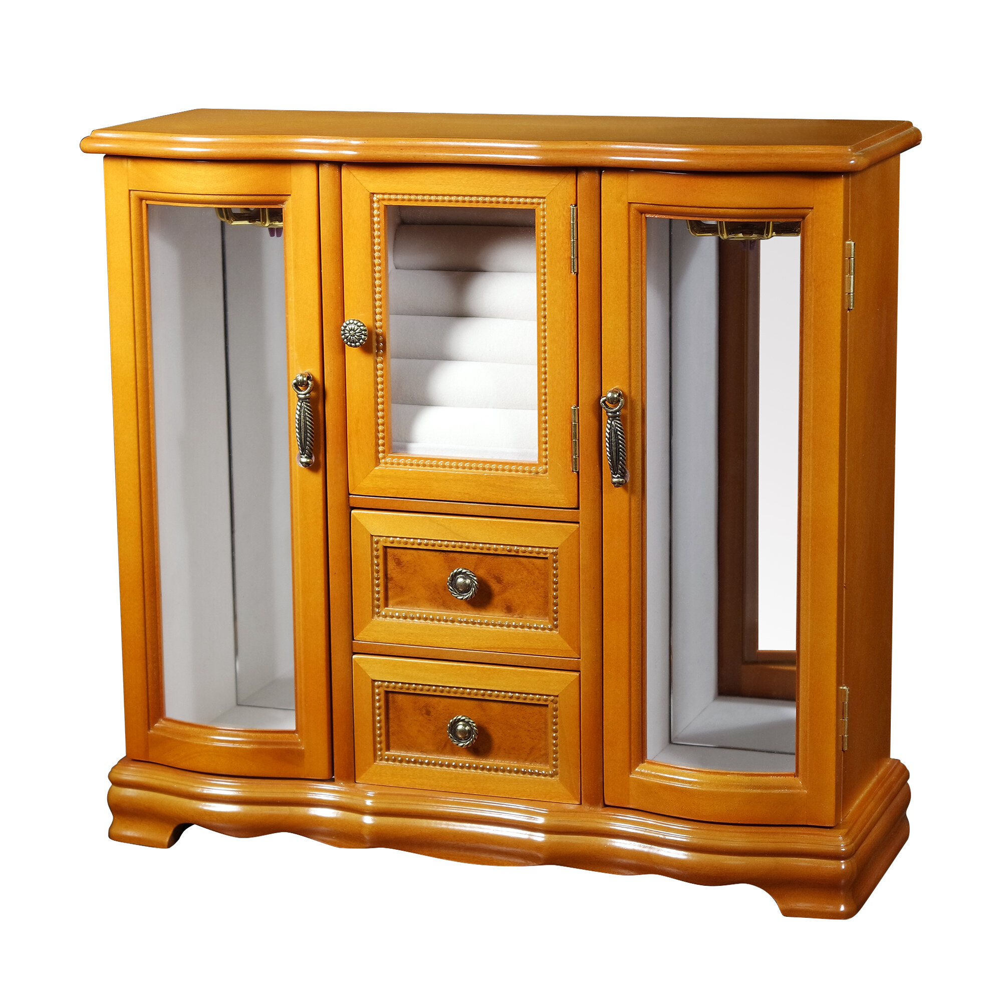 Darby Home Co Glass Door Jewelry Box Reviews Wayfair