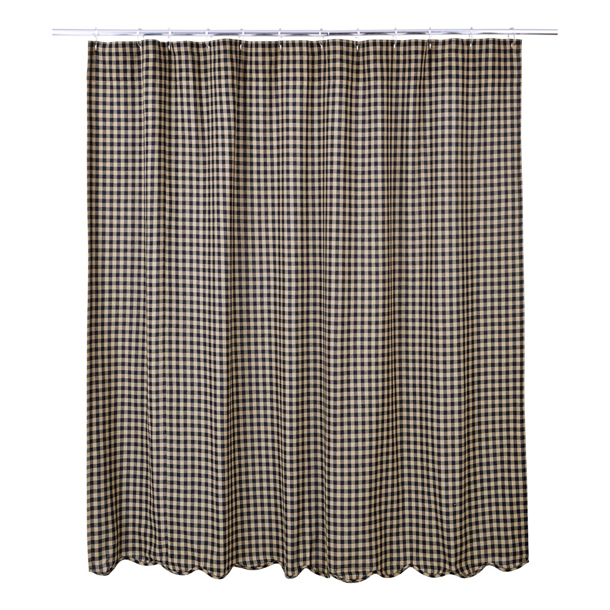 Heidi Scalloped Cotton Single Shower Curtain Reviews