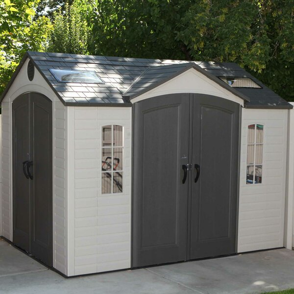 lifetime 9 ft 8 in w x 7 ft 8 in d metal storage shed reviews wayfair