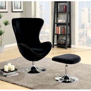 Maiah Contemporary Lounge Chair and Ottoman ..