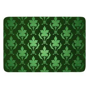 Emerald Damask Bath Mat