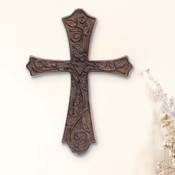 Large Rustic Flared Cast Metal Cross Wall Décor Reviews Wayfair