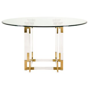 gold glass dining table round quickview gold base dining table wayfair