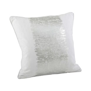 Metallic Silver Throw Pillow Wayfair