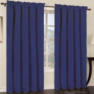 Navy Blue Anchor Curtains