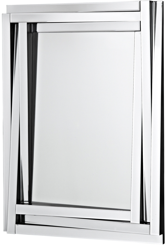 Majestic Mirror Modern Wood Framed Rectangular Beveled Glass Panel ...