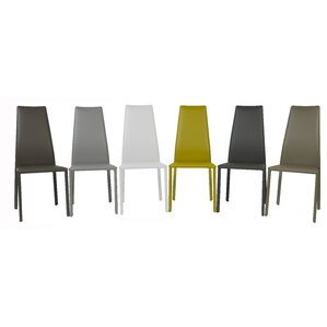 Trevis Genuine Leather Upholstered Dining Chair by Oggetti