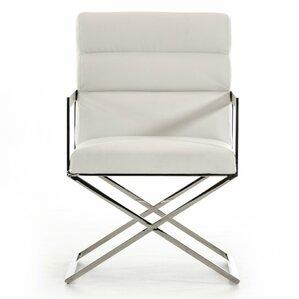 Clower Modern Steel Leg Arm Chair by Orren Ellis