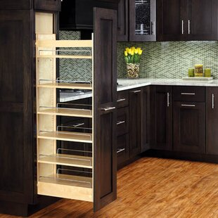 Slim Pull Out Pantry Cabinet | Wayfair Pull Out Pantry Cabinets For Kitchen on lazy susan for kitchen cabinets, corbels for kitchen cabinets, sliding shelves for kitchen cabinets,