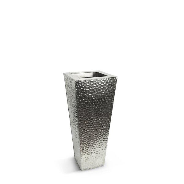 Orren Ellis Metal Hammered Floor Vase Wayfair