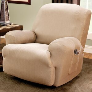 stretch stripe tcushion recliner slipcover