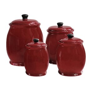 wayfair basics 4 piece storage jar set