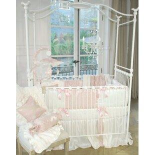 Blush Petal 4 Piece Crib Bedding Set