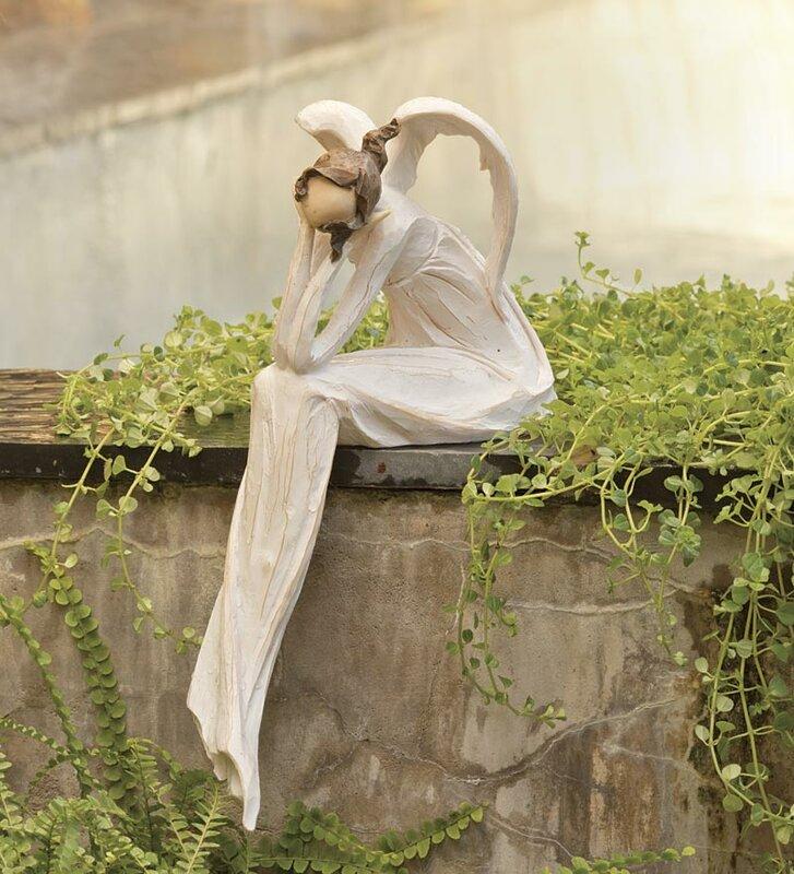 angel garden. Thinking Angel Garden Statue A
