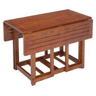 Beau Folding Extendable Solid Wood Dining Table