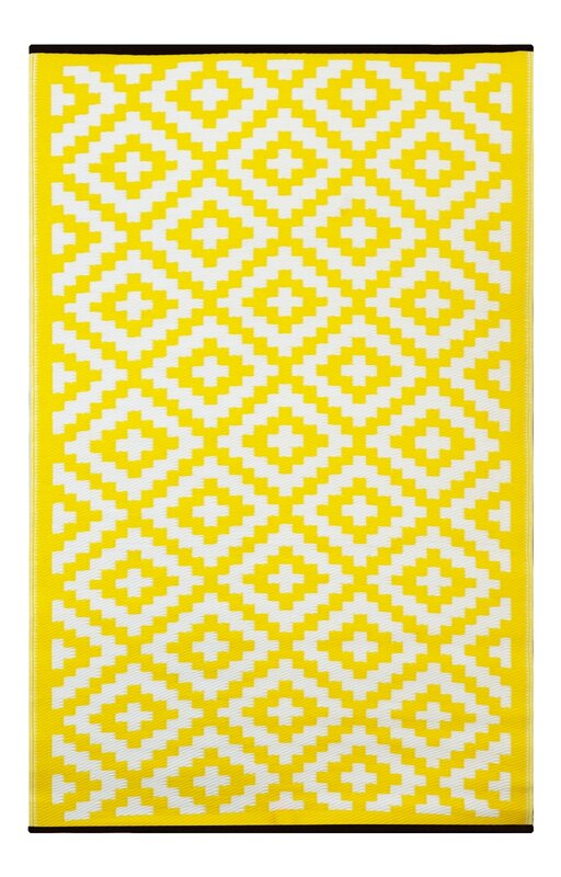 Riley Ave Kenji Yellow Outdoor Area Rug Amp Reviews