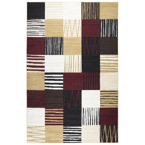 Dashawn Black/Red/Gold Area Rug